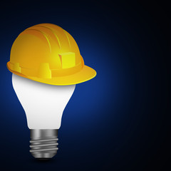 Yellow safety hard hat  with cap template