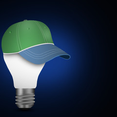 idea  light bulbs with cap template