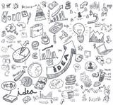 business doodles set - 67668340