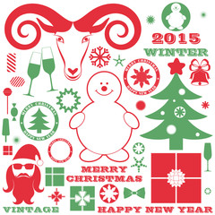 Christmas. Design element. New Year. Vector