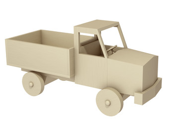 toy car on a white background