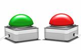 Notschalter roter und grüner Schaltknopf