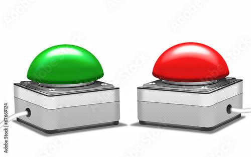Notschalter roter und grüner Schaltknopf - 67669124