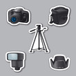 photography equipment stickers