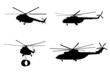 Helicopter of set silhouette. - 67669381