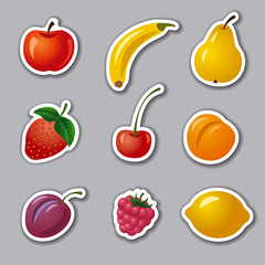 fruits and berries stickers