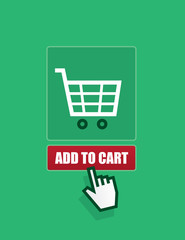 Online shopping cart add to cart button