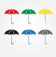 Umbrellacolor  icon color set