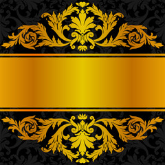 Golden black label design.