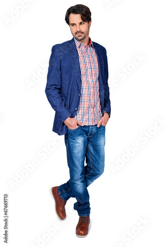 canvas print picture Handsome smiling man approaching the camera