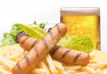 frankfurter with beer
