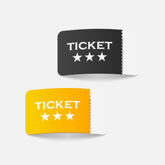 realistic design element: ticket