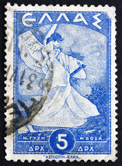 Postage stamp Greece 1945 Allegorical Figure of Glory