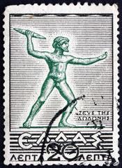 Postage stamp Greece 1937 Zeus of Dodona, Statue