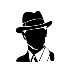 man with hat vector illustration