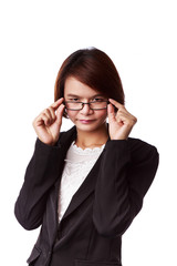 Asian business woman with eyeglasses