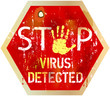 computer virus warning sign,vector illustration