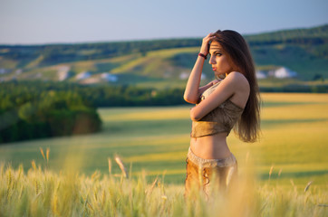 Girl in a wheat field