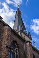 Dusseldorf, Germany.  Architecture of a basilica of Saint Lamber