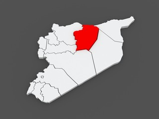 Map of Racca. Syria.