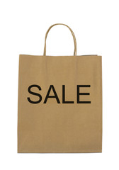 """Sale"" on brown shopping bag"