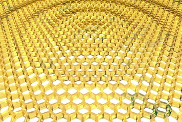 honeycomb waved field