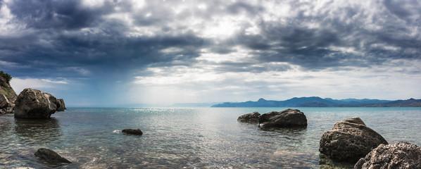 Панорама. Морской пейзаж. Крымский полуостров