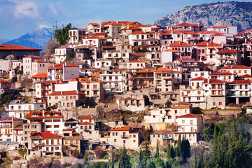 The view of Arachova town