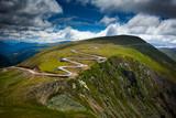 Winding road on mountain