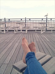 Relaxing at the pier