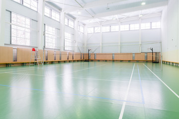 Indoors tennis court