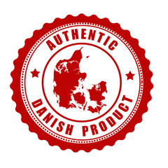 Authentic Danish product stamp or label