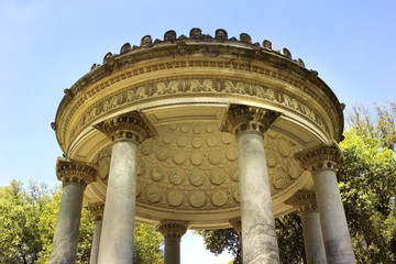 part of rotunda inside complex Villa Borghese, Rome