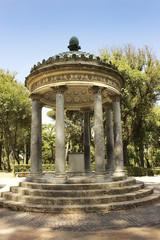 rotunda inside garden and park complex in Villa Borghese, Rome