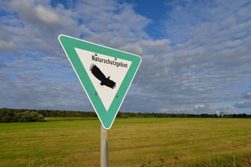 Naturschutzgebiet, Feuchtwiesen, Ökologie, Schild, Hamburg