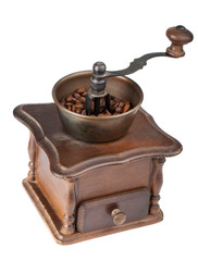 Vintage brown coffee mill