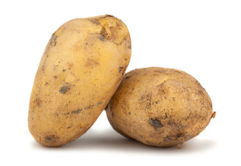 Pair of ripe potatoes