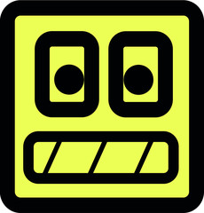 roboter smiley vector