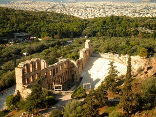 Amphitheatre Amphitheater Athens Aerial