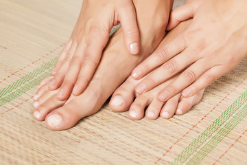 nicely nursed women's feet and hands