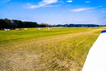 Meadow sports airfield landing strip.