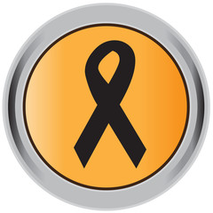 Aids ribbon, icon, button, sign