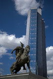 Equestrian statue of Skanderbeg, Pristina, Kosovo poster
