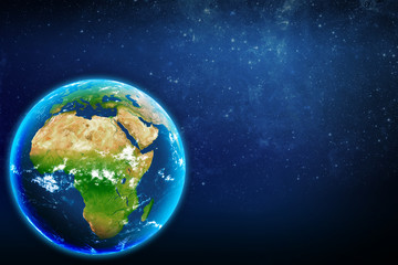 Planet earth in space. continent africa