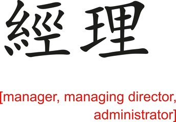 Chinese Sign for manager, managing director, administrator