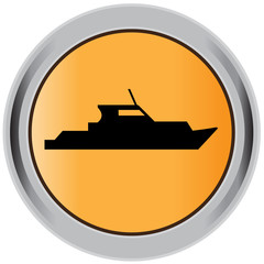Boat button, sign, icon