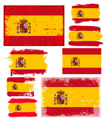 Set of Spain Flags