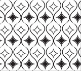 black repetition line seamless pattern 2 poster