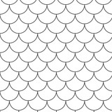 black repetition line seamless pattern 4 poster