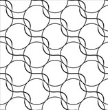 black repetition line seamless pattern, vector poster